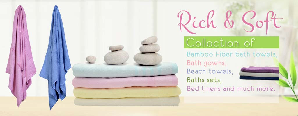 Bamboo fibre bath towels